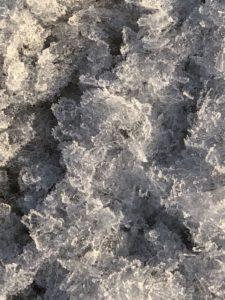 Foto på isen på stranden