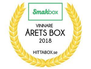 För 3:e året i rad utses Smakbox till Årets Box!