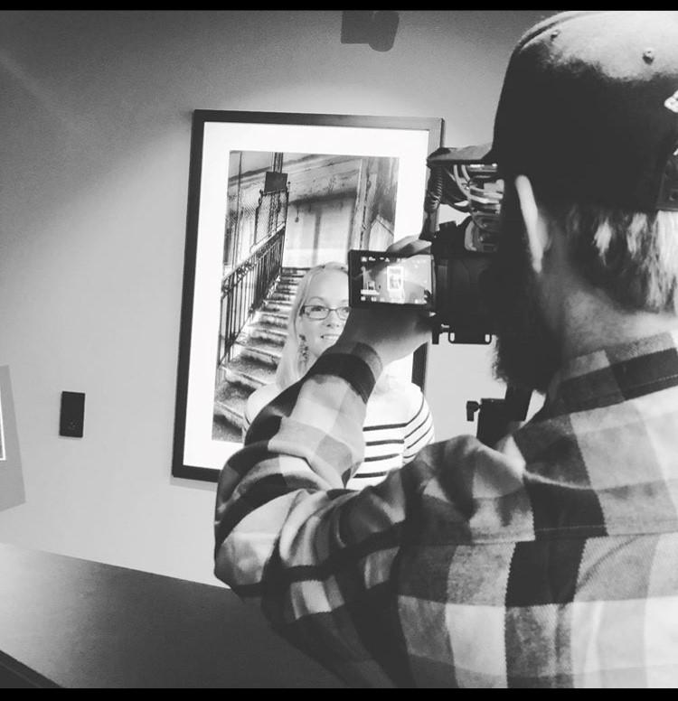 Linus filmar Sophia