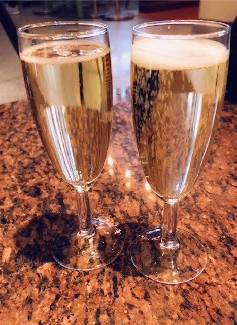 Två glas cava