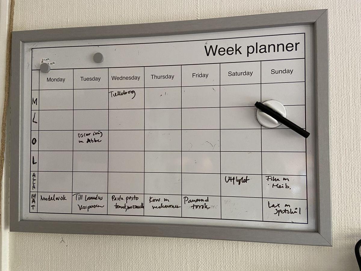 Min söndagsrutin – veckans matplanering