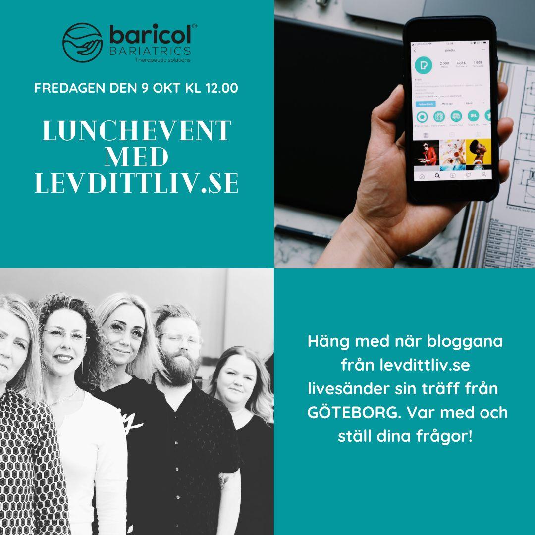 Reklam för event med levdittliv.se