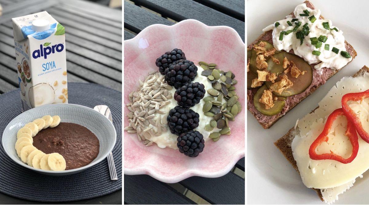 Frukostvanor för en minimage