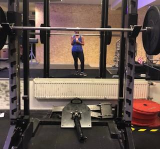 Soph på gymmet