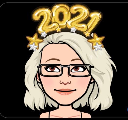 Tecknad Sophia med 2021 ovanför huvudet